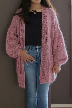 Items similar to Oversized Chunky Knit Sweater with pocket, Loose Knit, Open Style Sweater, Loose Knit, Oversized Knit Cardigan/ Bernadette-vest on Etsy - Cardigan Outfits Knit Cardigan Pattern, Oversized Knit Cardigan, Mohair Sweater, Knit Sweaters, Simple Pakistani Dresses, Pakistani Fashion Casual, Knit Fashion, Fashion Outfits, Gilet Long
