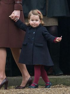 Princess Charlotte as the Royals spend Christmas with the Middletons. 2016