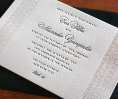 classic letterpress wedding invitation by invitations by ajalon