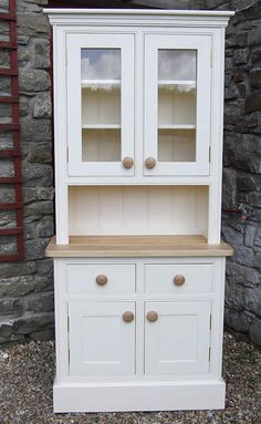 Small kitchen dressers in traditional & contemporary designs made & hand painted to order by Colin Spicer & Victoria Griffths. Dining Room Dresser, Kitchen Dresser, Small Dresser, Welsh Dresser, Refurbished Furniture, Painted Furniture, Kitchen Table Makeover, Country Furniture, Home Living Room