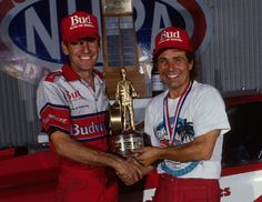 Dale Armstrong, left, is best remembered for his work as the innovative crew chief for Kenny Bernstein. Together they won 48 national events, five NHRA world championships and, in 1992 (below) broke the barrier in Gainesville Nhra Drag Racing, Top Fuel, And So It Begins, Funny Cars, I Cool, Local History, Car And Driver, Car Humor, World Championship
