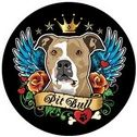 Check out this high quality Pit Bull - Circle Magnet that can be used both indoors and outdoors.  Place magnet on the back of a car or inside on the refrigerator.  Magnet is printed on a full color fade resistant .25 mil thick vinyl magnetic material.  This magnet also has a special backside coating that resists adhering to the paint on your car.  (StickerShoppe.com still recommends removing magnet weekly and clean area). Magnet is proudly printed in the USA.