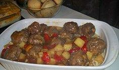 My kiddos love this recipe! I cover the meatballs in cream of mushroom soup/milk/sour cream mixture while baking. Creates a great gravy over mashed potatoes. I make the meatballs bigger than called for, making 12 late instead of 24 small.