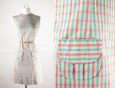 1960s Mod Shift Dress / Vintage 60s Dress / Plaid Dress / 60s Mod Dress / 60s Mini Dress / Pink Dress / Green Dress / Preppy Retro Dress by BlueHorizonVintage on Etsy #60s #mod #dress #plaid #pink #green #retro #preppy #shift #sheath #1960s #boho #etsy #vintage #fashion #clothing