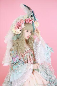 Kiyohari - 橘玄叶MACX邪 Style Lolita, Mode Lolita, Gothic Lolita Fashion, Quirky Fashion, Cute Fashion, Fashion Beauty, Harajuku Fashion, Kawaii Fashion, Doll Style