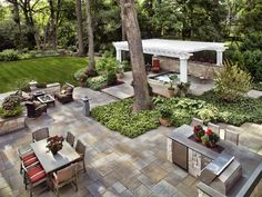 paver patio around tree | Precision Landscaping - Landscaping