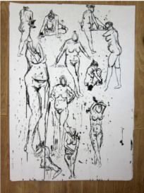 Visual Studies and Life Drawing Life Drawing, Study, Ink, Drawings, Studio, Investigations, India Ink, Studying, Drawing