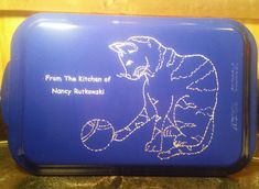 Cat or Kitty Engraved Cake Pan Personalized