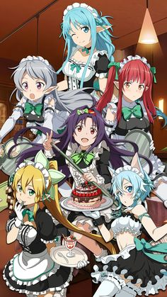 Sword Art Online Memory Defrag Maid Event