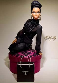 Shared by Carla Beautiful Barbie Dolls, Pretty Dolls, Fashion Royalty Dolls, Fashion Dolls, Diva Dolls, Dolls Dolls, African American Dolls, African Dolls, Black Barbie