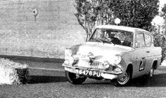 1961 RAC Rally: Anne Hall, Ford Anglia 105E, equal 7th