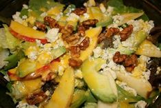 Apple Avocado Salad with Mandarin Orange Dressing