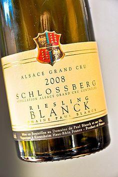 Alsace grand cru Schlossberg Riesling 2008 Domaine Paul Blanck.   #DrinkAlsace