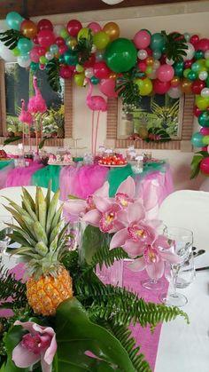 Aloha Party, Hawaiian Luau Party, Hawaiian Birthday, Flamingo Birthday, Luau Birthday, Flamingo Party, Tropical Party, Hawaiin Theme Party, 13th Birthday Parties
