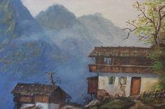 Mystical Landscape Painting 18 x 22 inches  Canvas by SubtleFunk