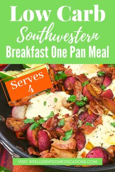 A filling keto breakfast recipe which can be served for brunch or dinner. This egg skillet dish is flavor packed and features cooked radishes instead of potatoes to keep the carbs low. #lowcarb #keto #breakfast #brunch One Dish Dinners, One Pan Meals, Easy Meals, Quick Recipes, Pork Recipes, Low Carb Recipes, Entree Recipes, Dinner Recipes, Dinner Ideas
