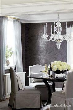 Dining room black wall