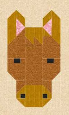This item is a pdf file that you download and will have to save to your computer before printing. Following the confirmation of your purchase, you will receive an email notification from Etsy giving you a link to enable you to download your file. As with all of my designs, this pattern uses traditional piecing methods and step by step, detailed instructions are provided. This is not paper pieced. This pattern provides instructions for making the horse quilt block only. This modern…