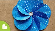 Cómo hacer flores scrapbooking. How to make scrapbooking flowers. - YouTube