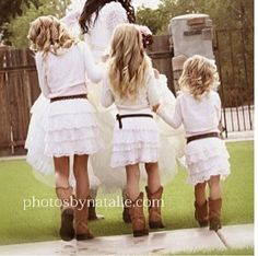 Country wedding ( Flower Girls )