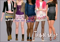 Tribal skirt by simluxe - Sims 3 Downloads CC Caboodle