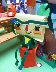 Papersculpture / paper craft installation for Playstation's Tearaway Game  http://www.scarlet-winter.com/playstation.html