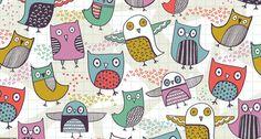 owl pattern ♥ Caroline Pratt