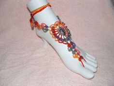 Barefoot Sandals   Multi Colored/Passionata by gilmoreproducts33, $19.00