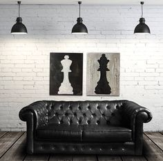 Chess piece Art King and Queen board game decor chess painting vintage classic style game room decor man cave couples bedroom pool room – Home Decor Apartment Diy Home Decor For Apartments, Diy Home Decor Bedroom, Bedroom Ideas, Bedroom Furniture, Classic Home Decor, Retro Home Decor, Game Room Decor, Wall Decor, Tattoo Casal