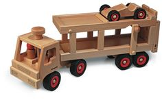 Fagus Wooden Car Transporter - Honeybee Toys