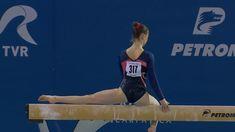Gymnast Veronika cenkova on beam Gymnastics, Routine, Music, Fitness, Musica, Musik, Muziek, Physical Exercise, Calisthenics