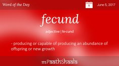 Definitions, Synonyms U0026 Antonyms Of Fecund U2013 Word Of The Day