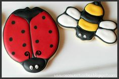 O So Sweet Cookies: Ladybug Cookie Favors: A Tutorial