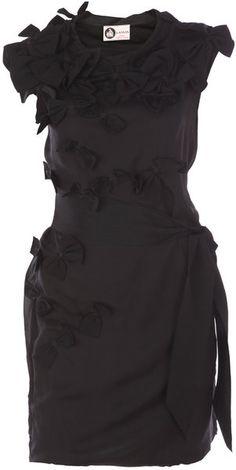 LANVIN Silk Bow Dress - Lyst