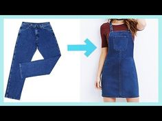 diy overalls from jeans how to make Fashion Sewing, Diy Fashion, Fashion Outfits, Sewing Jeans, Sewing Clothes, Jean Diy, Diy Old Jeans, Recycle Jeans, Look 80s