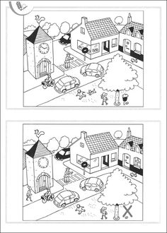 Spot the differences Hidden Picture Games, Hidden Pictures, Picture Puzzles, Hidden Objects, Kids Class, Activity Sheets, Early Childhood Education, Teaching Tools, Colouring Pages