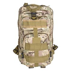AW CP Camouflage 17x10x12 Waterproof Sport Camping Hiking Bag Military Tactical Backpack Travel Climb *** For more information, visit image link.