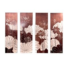 lotus copper hue wall art  sc 1 st  Pinterest & biombo | ?? | Pinterest | Japanese