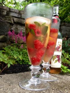 from the contest: basil, raspberry, peach sangria in Hartland