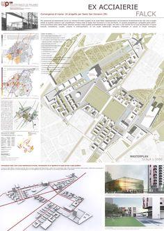 progetto di un parco urbano Landscape Concept, Landscape Design, Garden Design, Project Presentation, Presentation Boards, Site Plans, Master Plan, Landscape Illustration, Urban Planning