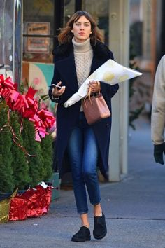 miss-sheffield: 18-12-2014 Alexa Chung seen out and about in...