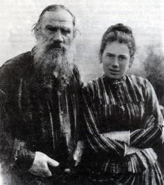 Tolstói e sua filha, Tatiana.