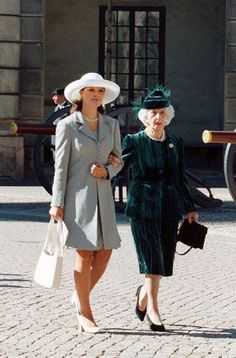 Princess Lilian, Duchess of Halland and Crown Princess Victoria of Sweden