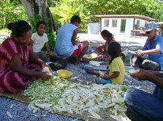 Marshall Islands people having dinner.