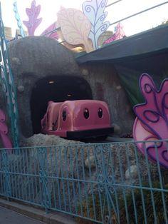 Alice in Wonderland ride at Disneyland.