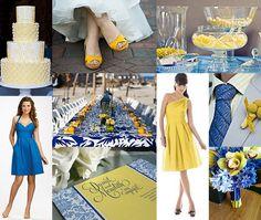 Capri Blue & Canary Yellow wedding inspiration