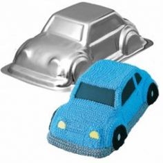 3-D Cruiser Cake Pan but carve it some and do red fondant maybe