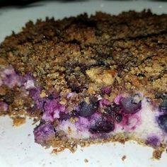 Blueberry Pie with Flax and Almonds Sour Cream Blueberry Pie Recipe, Fruit Flan Recipe, Strawberry Cream Pies, Blueberry Pie Recipes, Blueberry Desserts, Baking Desserts, Dessert Recipes, Graham, Gooseberry Pie