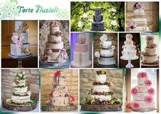 Torte Nuziali 💒💍🎂💟 Alcuni dei migliori capolavori di #prettycakecompany #moodboard #mosaic #collage #torte #tortanuziale #matrimonio #cakes #weddingcake #wedding