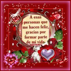 SUEÑOS DE AMOR Y MAGIA: Gracias por formar parte de mi vida